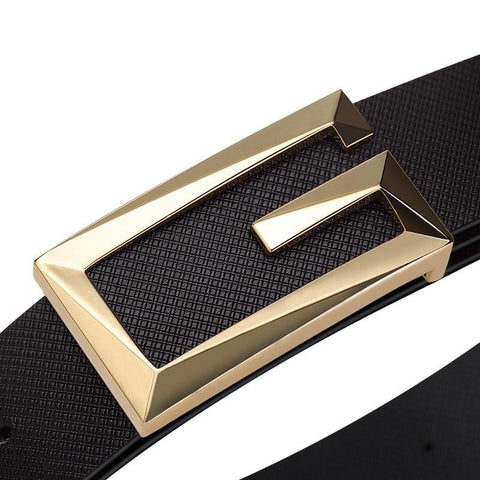 Genuine Leather Belts Metal Automatic Buckle