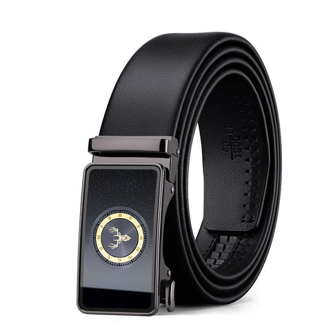 Izdestiny full-grain leather Brand Belt Men Automatic Buckle