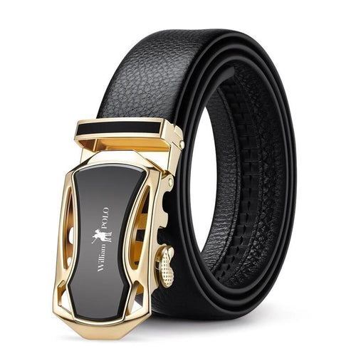 Genuine Luxury Leather Belts for Men Strap Male Metal Automatic Buckle
