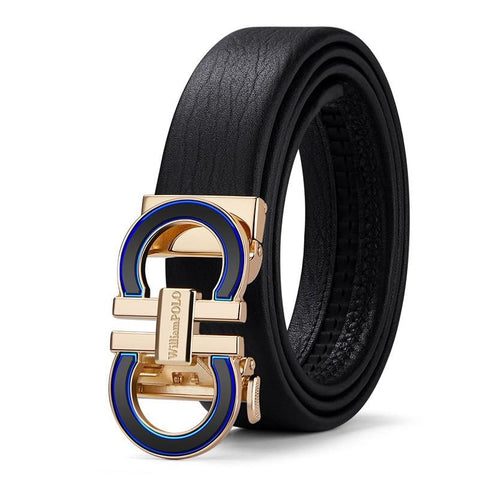 Izdestiny Leather Belt Metal Automatic Buckle