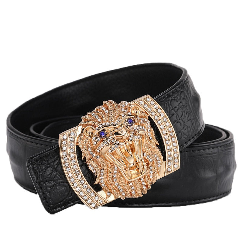 Lion Head Genuine Belt