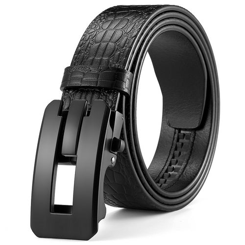 Automatic Buckle Genuine Leather Belt
