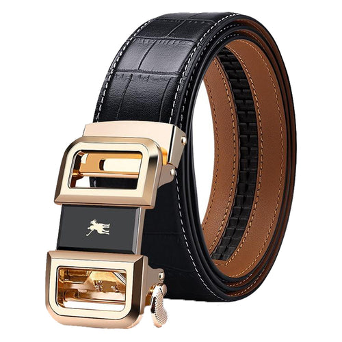 Genuine Leather Automatic Buckle Luxury Brand Male Belts