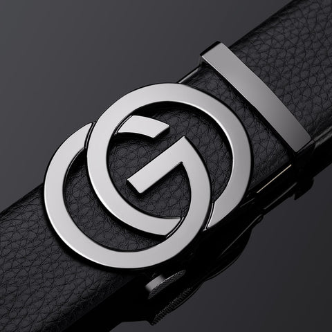 Genuine Leather GO Buckle Belt