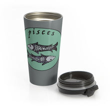 Load image into Gallery viewer, Pisces Vintage Stainless Steel Travel Mug