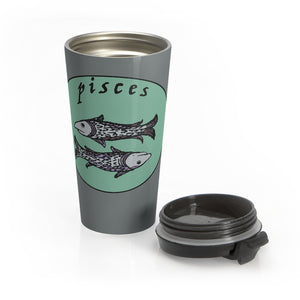 Pisces Vintage Stainless Steel Travel Mug