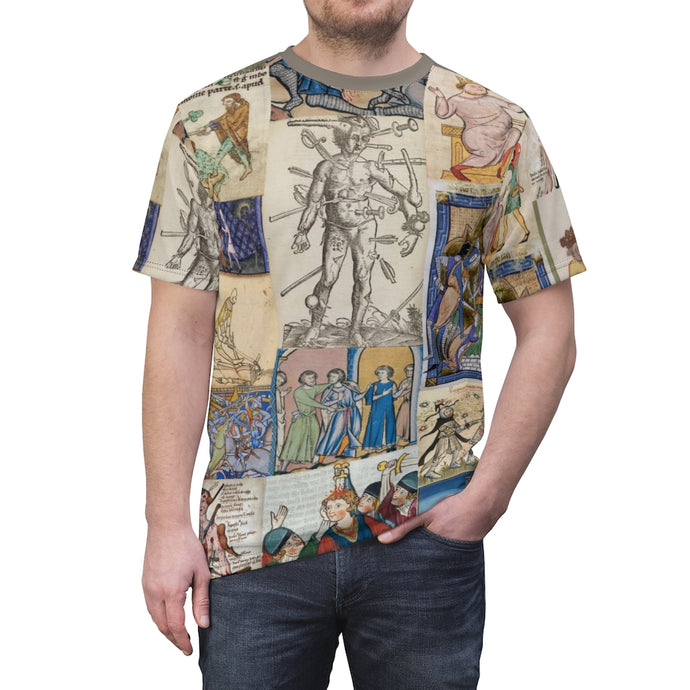 People Getting Stabbed in Medieval Manuscripts AOP  Tee