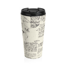Load image into Gallery viewer, Da Vinci's Notebook Stainless Steel Travel Mug
