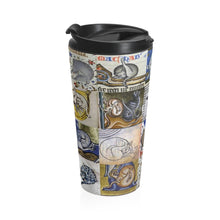 Load image into Gallery viewer, Medieval Cats Licking Their Butts Stainless Steel Travel Mug