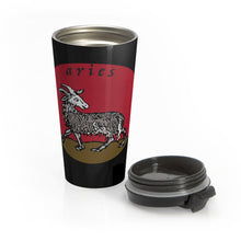 Load image into Gallery viewer, Aries Vintage Stainless Steel Travel Mug
