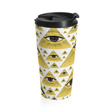 Load image into Gallery viewer, Illuminati Eye Stainless Steel Travel Mug