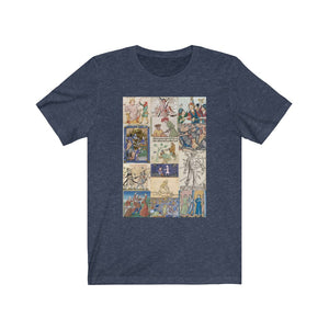 People Getting Stabbed in Medieval Manuscripts Jersey Short Sleeve Tee