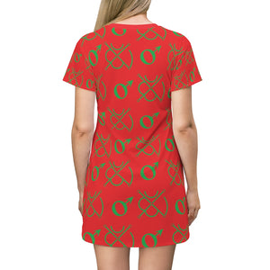 Mars Seal All Over Print T-Shirt Dress