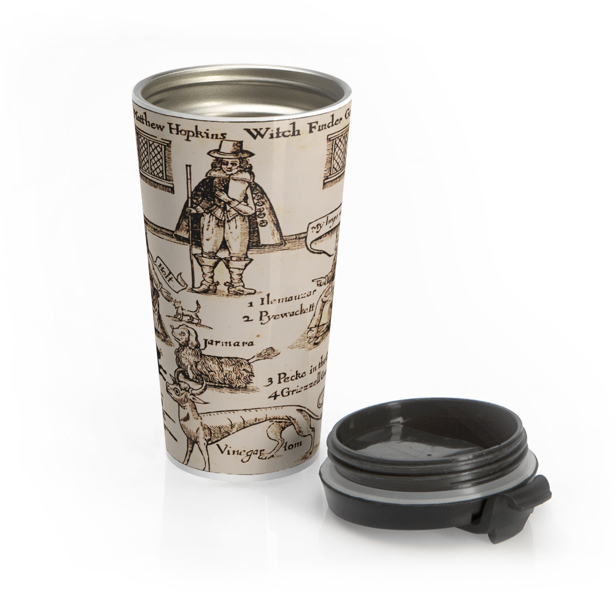 Witchfinder Generall Stainless Steel Travel Mug