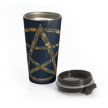 Load image into Gallery viewer, Garden Print Pentagram Stainless Steel Travel Mug
