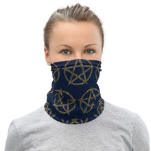 Load image into Gallery viewer, Garden Print Pentagram Face Mask/Neck Gaiter