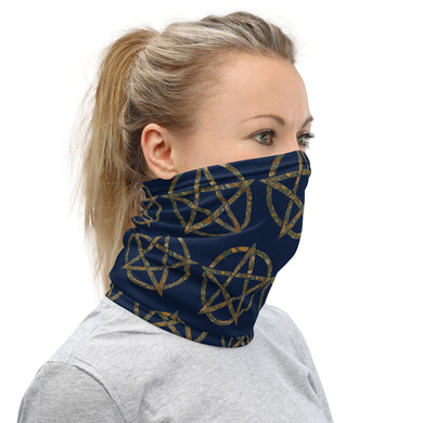 Garden Print Pentagram Face Mask/Neck Gaiter