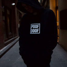 Load image into Gallery viewer, POOF DOOF HOODIE - BLACK