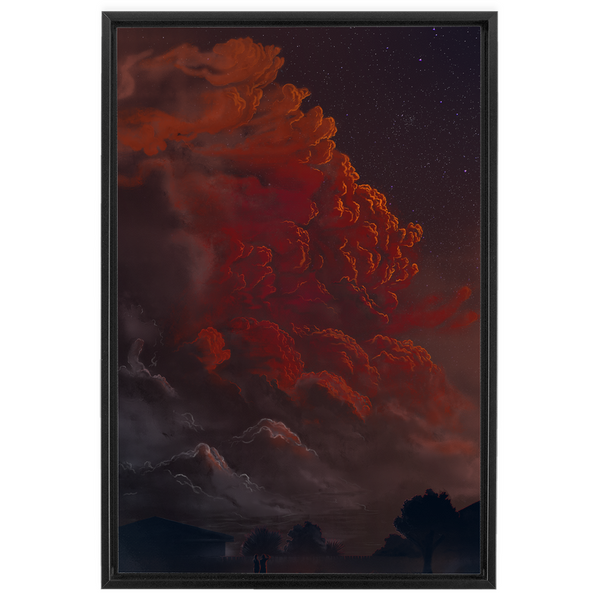 The Decision (2018) Framed Canvas Print