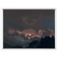 Heat Lightning (2019) Framed Canvas Print