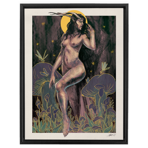 Wood Nymph (2020) Framed Canvas Print