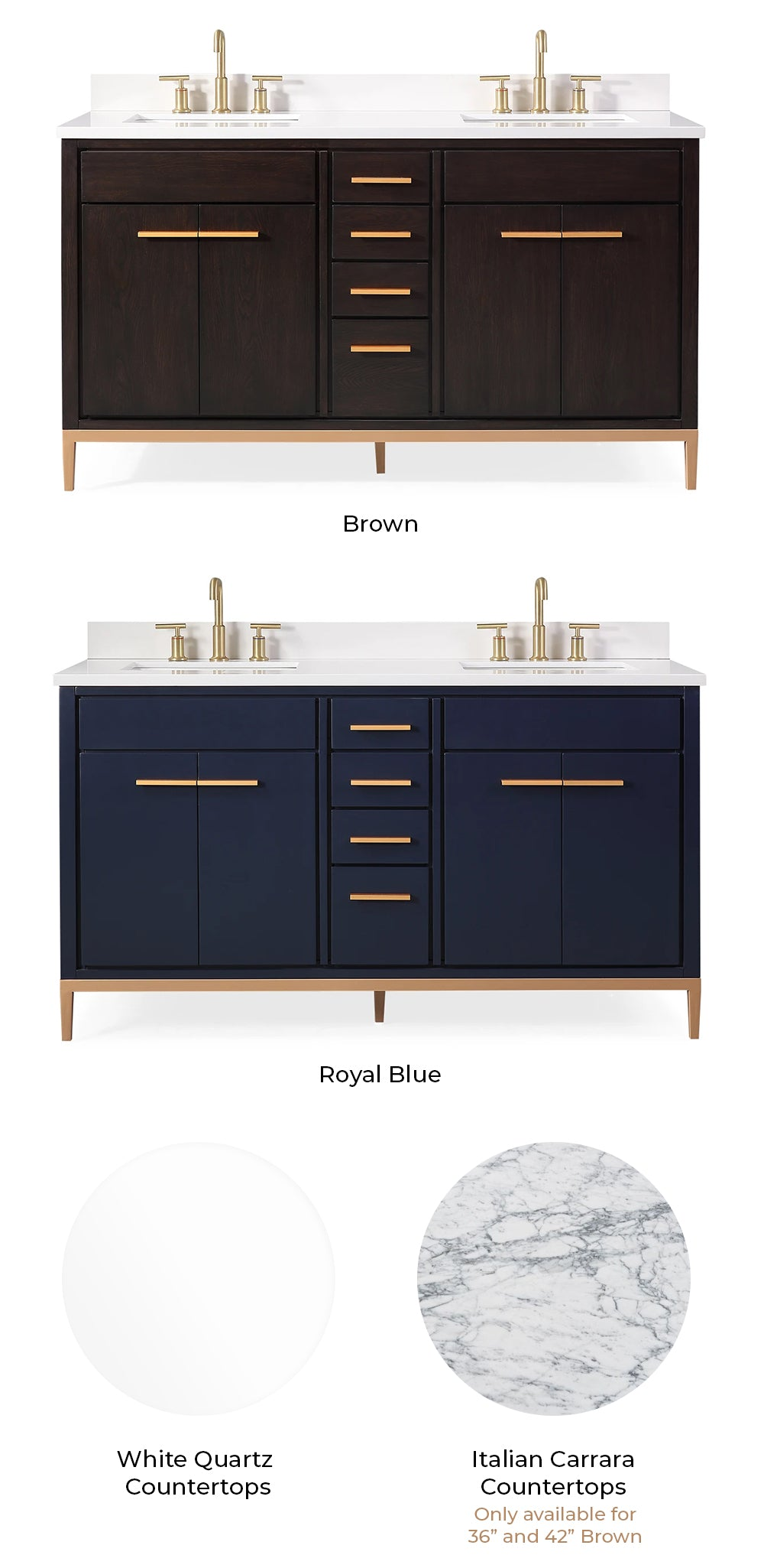 Beatrice Modern Vanity Color Selection