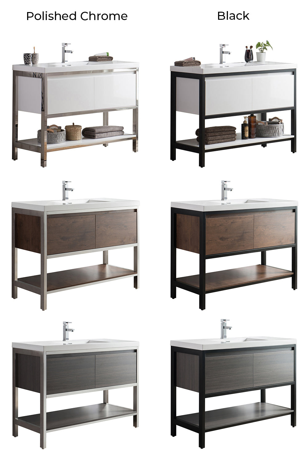 Luxury Vanity Modern Collection Color Chart - Bezier
