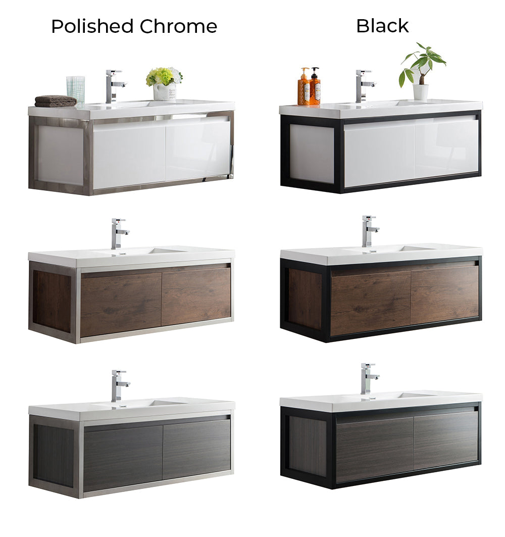 Bezier Floating Vanity Color Collection