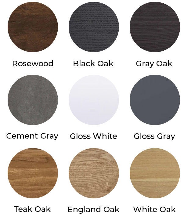 Monterey Side Cabinet Color Selections