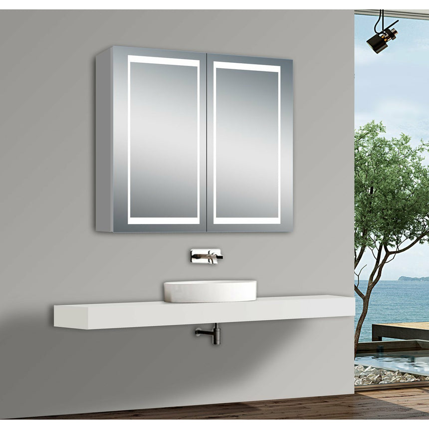 Nova LED Mirror Medicine Cabinet - O&N Floating Vanity