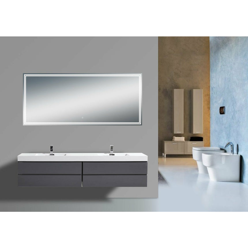 Lugarno LED Mirror - O&N Floating Vanity