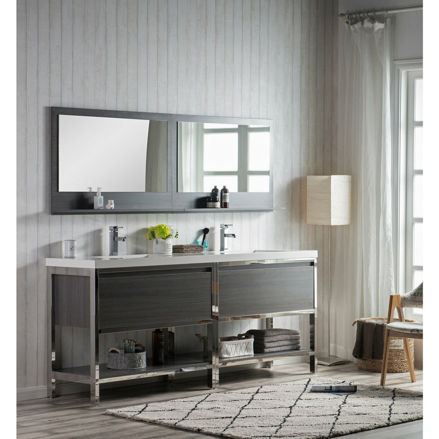 Bezier Freestanding Vanity - O&N Floating Vanity