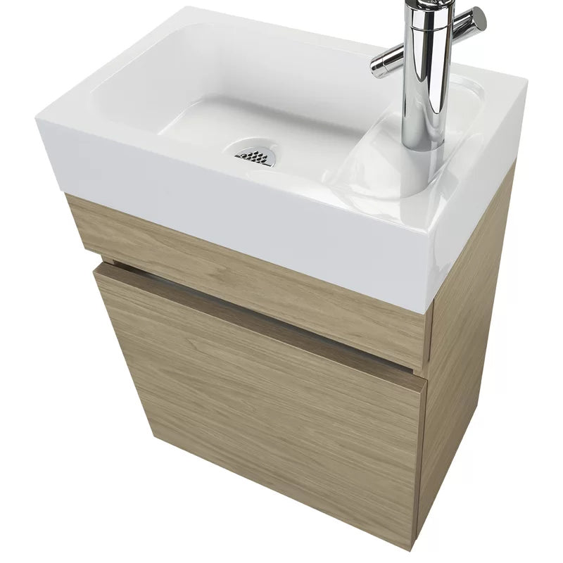 "Ottavino Floating Vanity (10"" Depth) - O&N Floating Vanity"