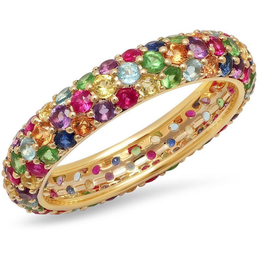 Multi Colored Domed Ring