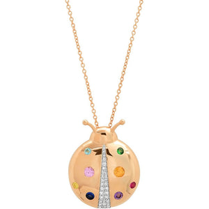 Multi Colored Mama Ladybug Necklace