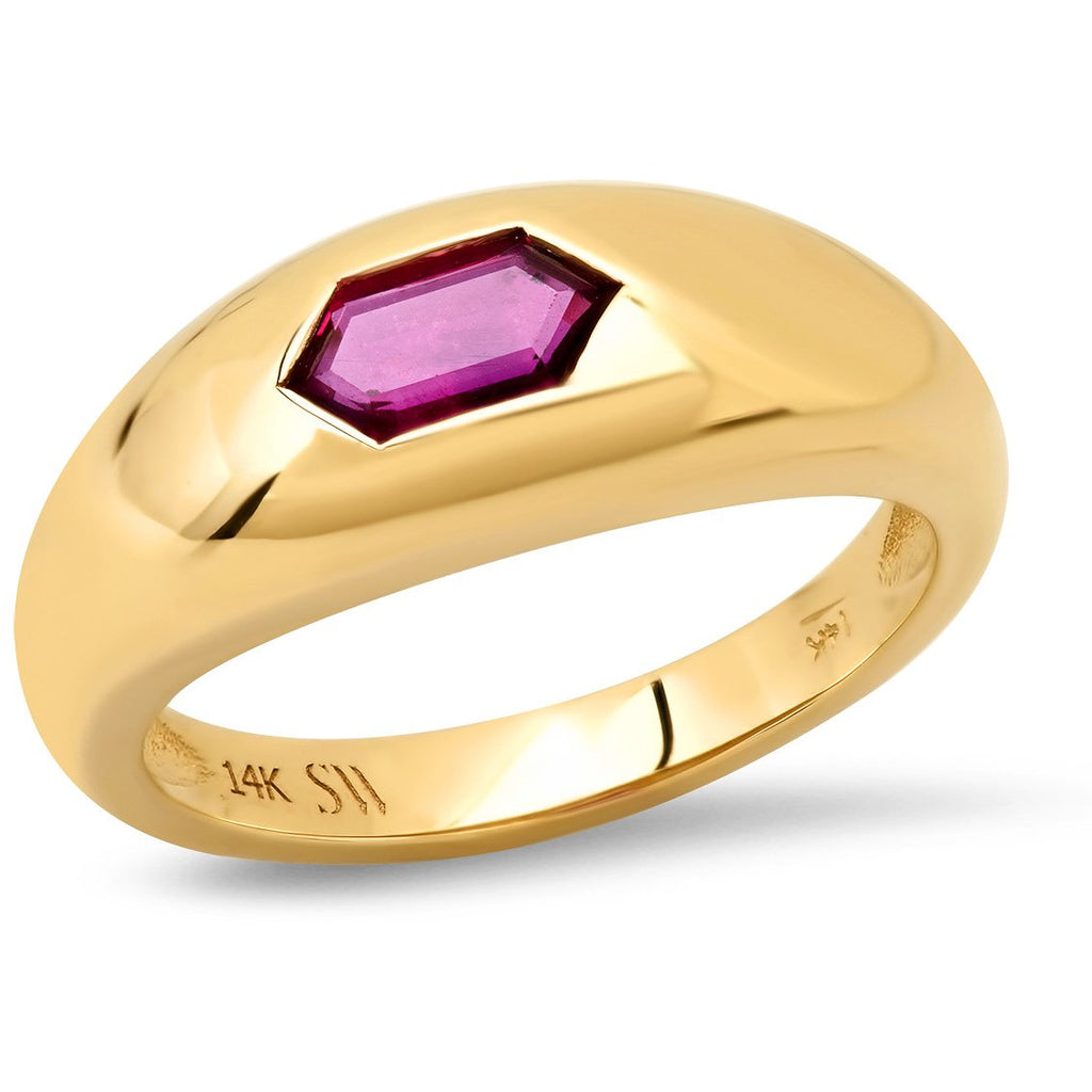 Burmese Ruby Gypsy Ring
