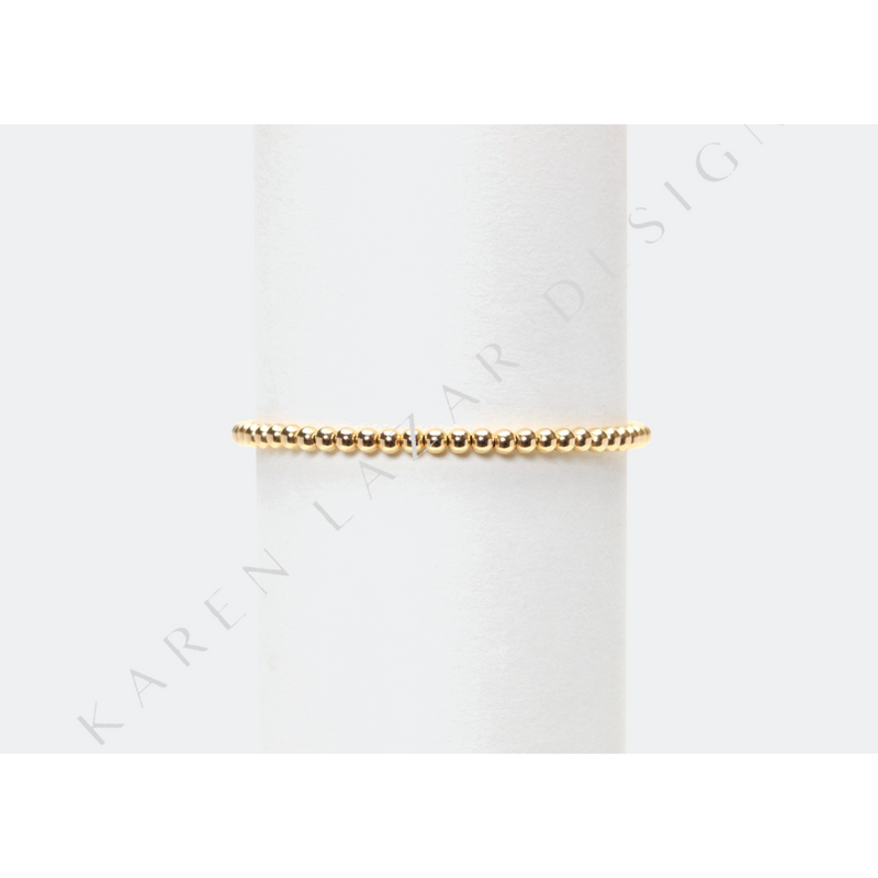 Kids 3mm Yellow Gold Filled Bracelet