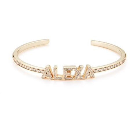 Diamond Name Cuff