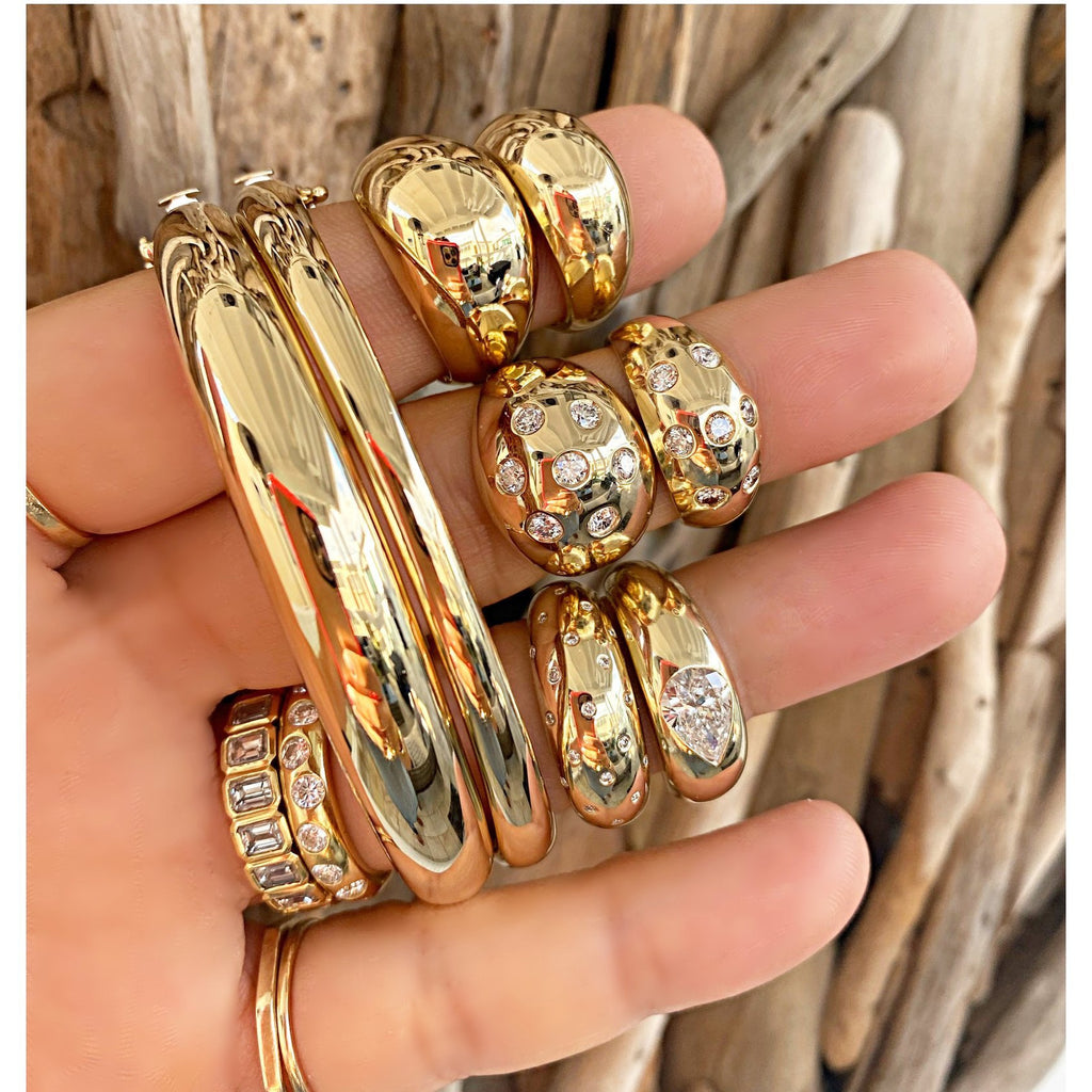 Gold Dome Bangle