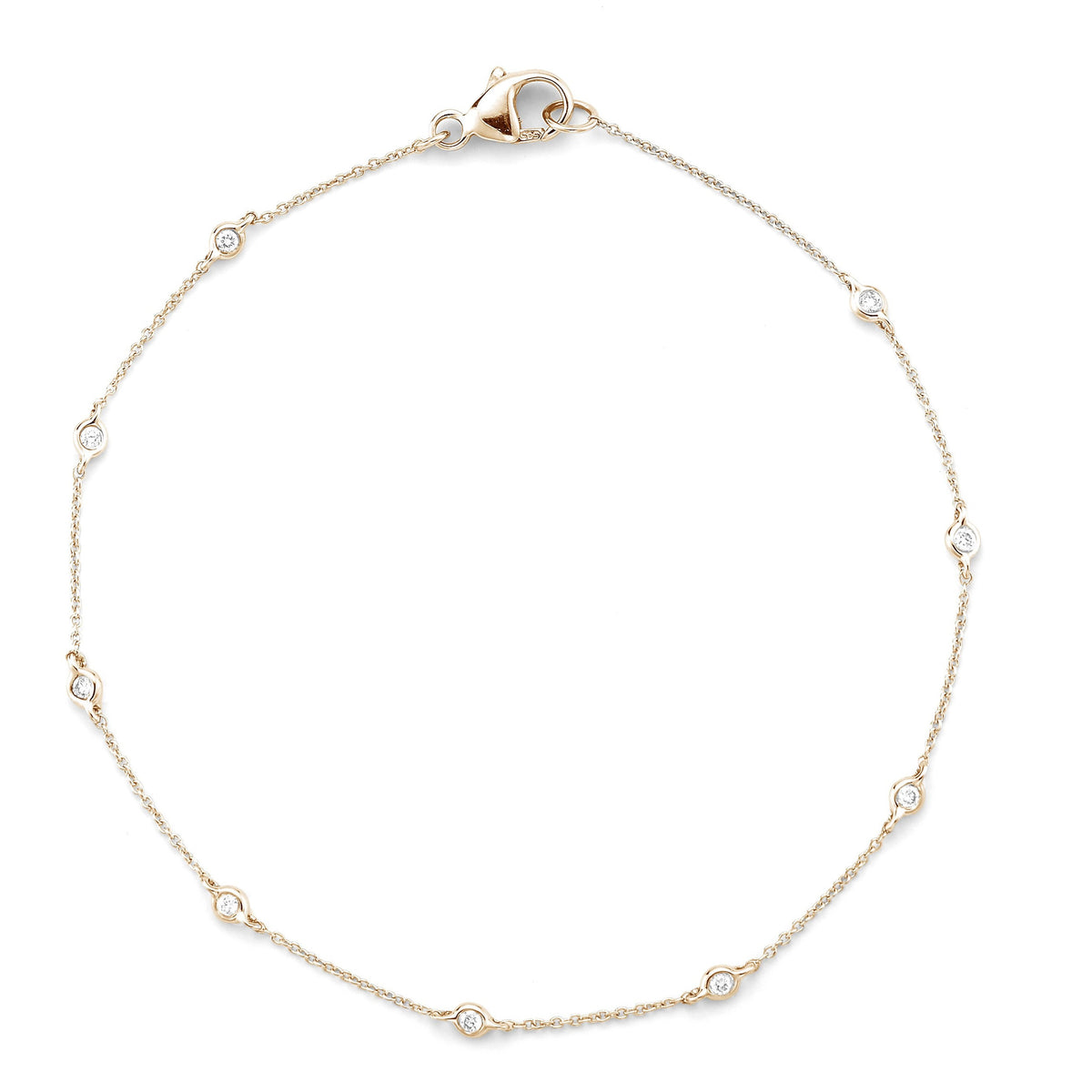 Lulu Jack Single Bezel Bracelet