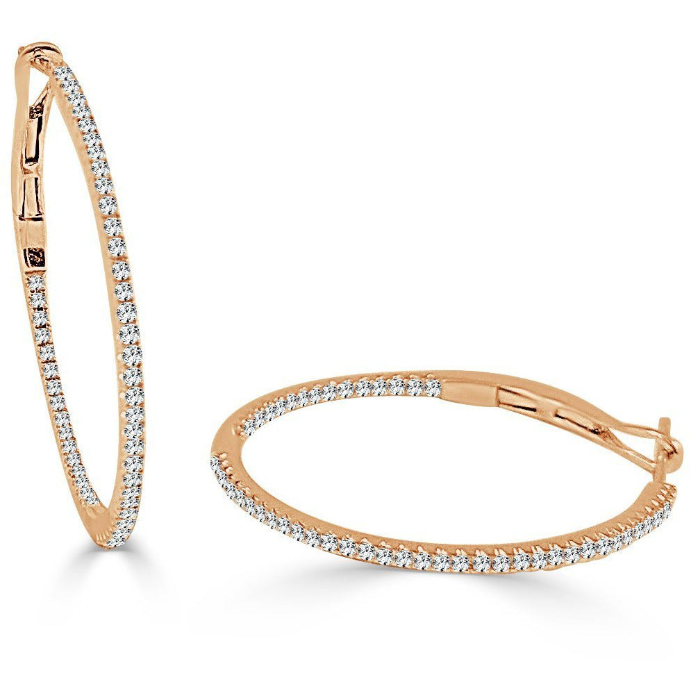 "The Perfect Diamond Gold Hoop 3/4"" (Thin)"