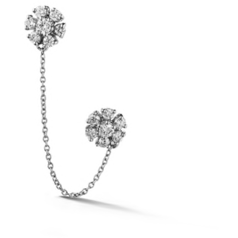 Jennifer Yamina Double Flower Chain Stud
