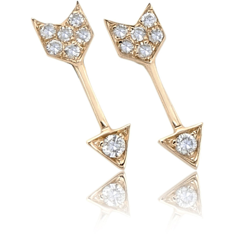 Diamond Mini Arrow Stud Earring