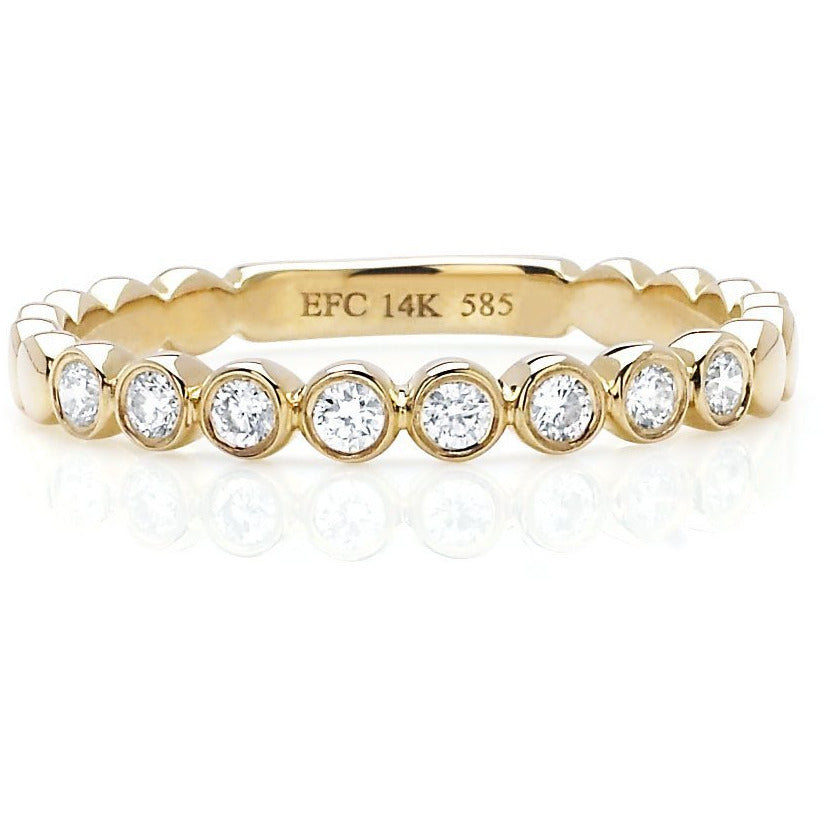 Diamond Bezel Stack Ring