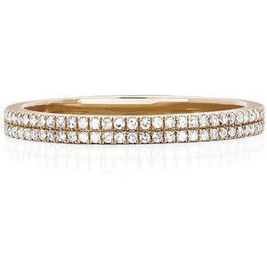 Double Diamond Eternity Band Ring