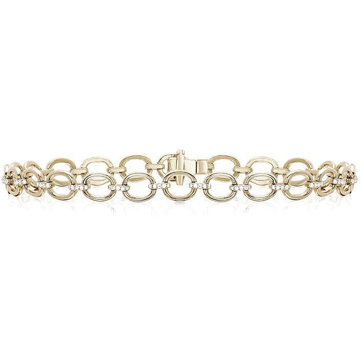 Partial Diamond Chain Link Bracelet