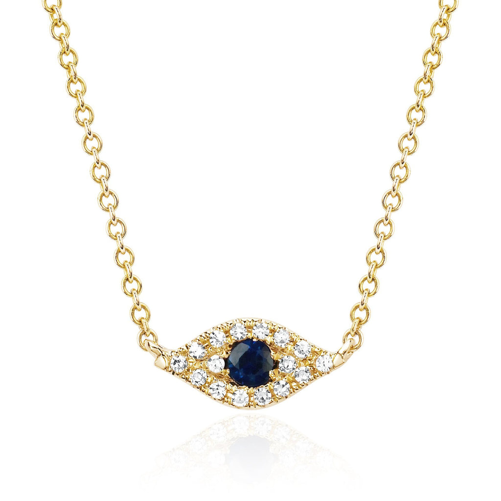 Diamond Evil Eye Choker Necklace