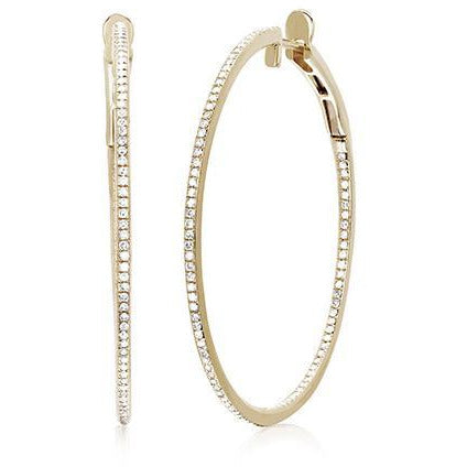 "Diamond Jumbo Round Hoop (1.5"") Earring"