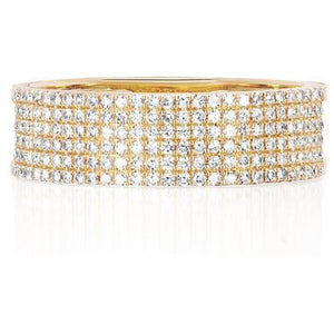 Diamond Cigar Band Ring