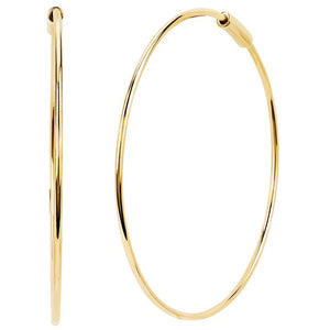 The Perfect Gold Hoop Earring